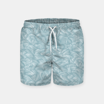 Miniatur Silky Waves of the Boundless Slate Blue Sea Swim Shorts, Live Heroes