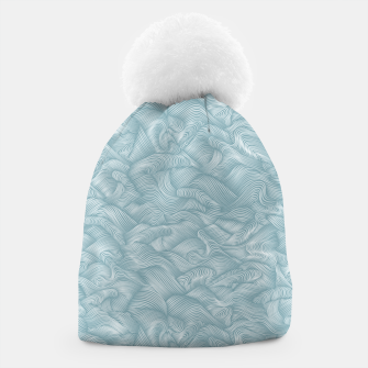 Thumbnail image of Silky Waves of the Boundless Slate Blue Sea Beanie, Live Heroes