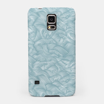 Miniatur Silky Waves of the Boundless Slate Blue Sea Samsung Case, Live Heroes