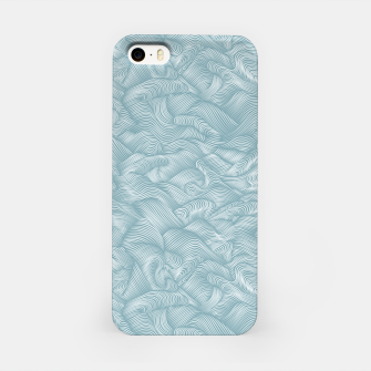 Miniatur Silky Waves of the Boundless Slate Blue Sea iPhone Case, Live Heroes
