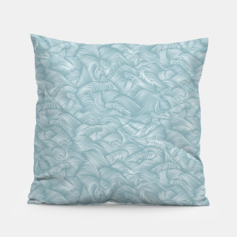 Miniatur Silky Waves of the Boundless Slate Blue Sea Pillow, Live Heroes