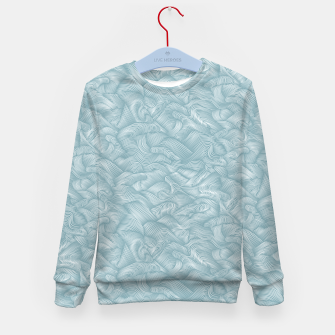 Miniatur Silky Waves of the Boundless Slate Blue Sea Kid's sweater, Live Heroes