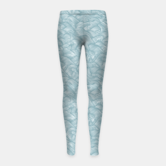 Miniatur Silky Waves of the Boundless Slate Blue Sea Girl's leggings, Live Heroes