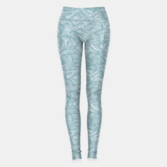 Miniatur Silky Waves of the Boundless Slate Blue Sea Leggings, Live Heroes