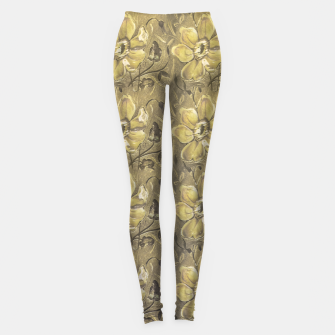 Thumbnail image of Retro Stlye Floral Decorative Print Pattern Leggings, Live Heroes