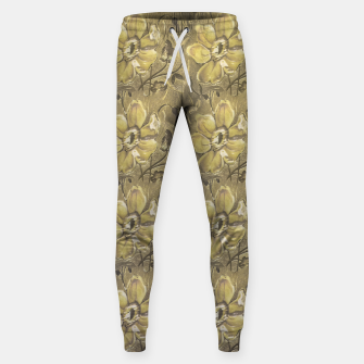 Thumbnail image of Retro Stlye Floral Decorative Print Pattern Sweatpants, Live Heroes
