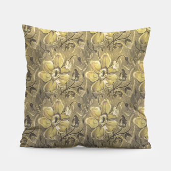 Thumbnail image of Retro Stlye Floral Decorative Print Pattern Pillow, Live Heroes