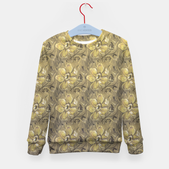 Thumbnail image of Retro Stlye Floral Decorative Print Pattern Kid's sweater, Live Heroes