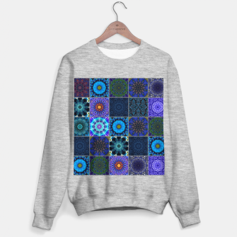 Thumbnail image of Blue Crazy Quilt Pattern Sweater regular, Live Heroes
