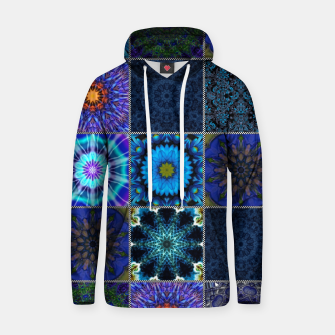 Thumbnail image of Blue Crazy Quilt Pattern Hoodie, Live Heroes