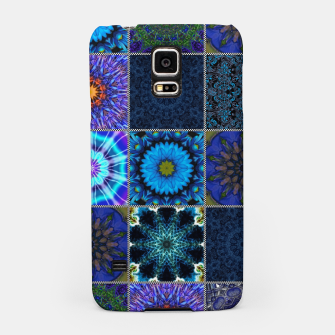 Thumbnail image of Blue Crazy Quilt Pattern Samsung Case, Live Heroes