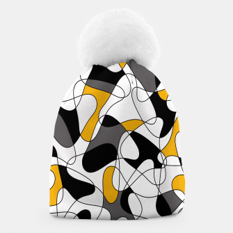 Miniature de image de Abstract pattern - orange, gray, black and white. Beanie, Live Heroes