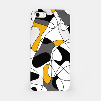 Miniature de image de Abstract pattern - orange, gray, black and white. iPhone Case, Live Heroes