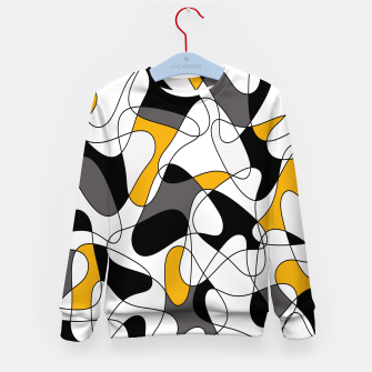 Miniature de image de Abstract pattern - orange, gray, black and white. Kid's sweater, Live Heroes
