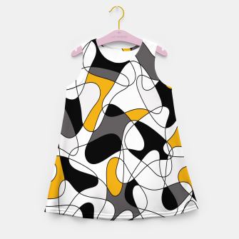 Miniature de image de Abstract pattern - orange, gray, black and white. Girl's summer dress, Live Heroes