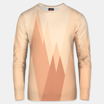 Thumbnail image of Silhouettes, sunrise over mountain peaks, contemporary landscape illustration in soft colors Unisex sweater, Live Heroes