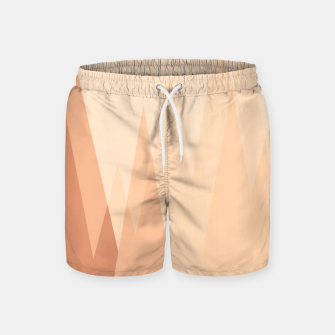 Thumbnail image of Silhouettes, sunrise over mountain peaks, contemporary landscape illustration in soft colors Swim Shorts, Live Heroes