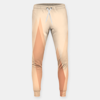 Miniaturka Silhouettes, sunrise over mountain peaks, contemporary landscape illustration in soft colors Sweatpants, Live Heroes