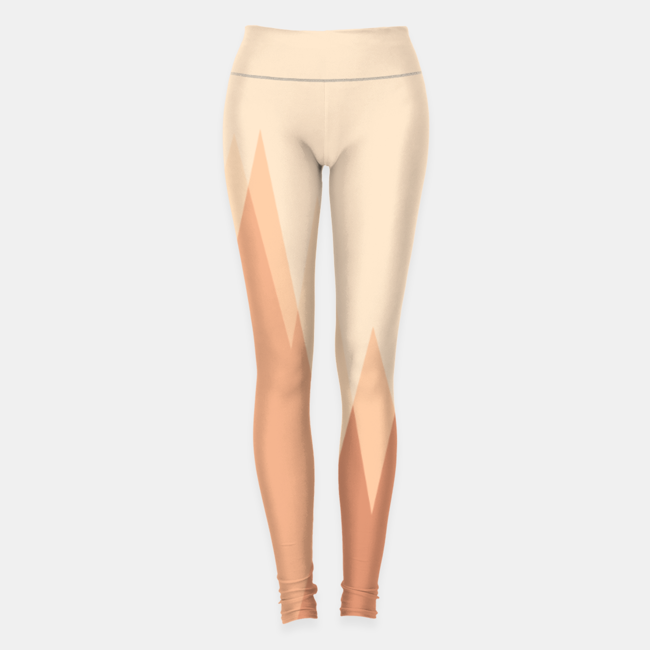 Image of Silhouettes, sunrise over mountain peaks, contemporary landscape illustration in soft colors Leggings - Live Heroes