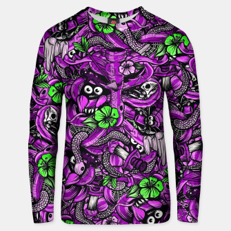 Thumbnail image of Doodle Bones Pink Unisex sweater, Live Heroes