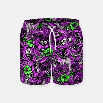 Thumbnail image of Doodle Bones Pink Swim Shorts, Live Heroes
