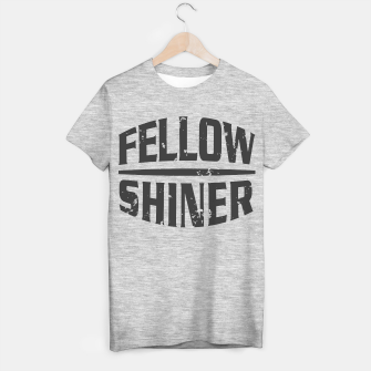 Thumbnail image of Fellow Shiner Logo Dark T-Shirt Regular Melange, Live Heroes