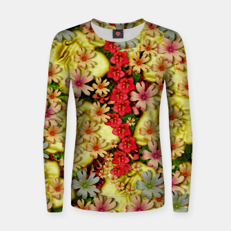 Miniatur Big flowers of peace small of love  Women sweater, Live Heroes