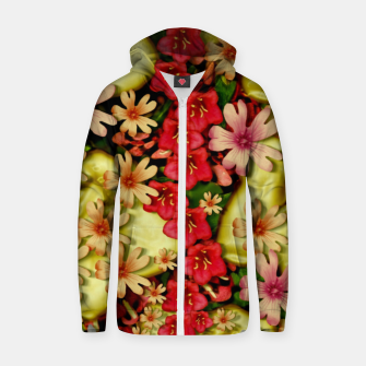 Thumbnail image of Big flowers of peace small of love  Zip up hoodie, Live Heroes
