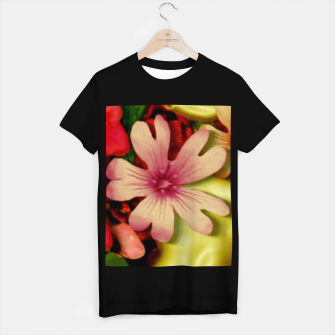 Thumbnail image of Big flowers of peace small of love  T-shirt regular, Live Heroes