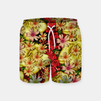 Miniatur Big flowers of peace small of love  Swim Shorts, Live Heroes