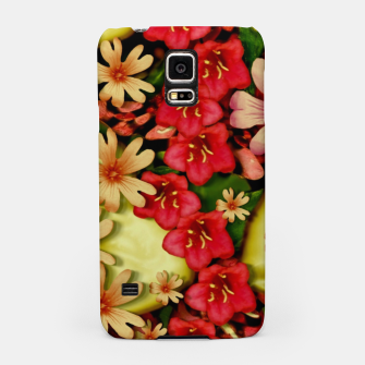 Miniatur Big flowers of peace small of love  Samsung Case, Live Heroes