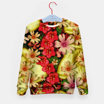 Thumbnail image of Big flowers of peace small of love  Kid's sweater, Live Heroes