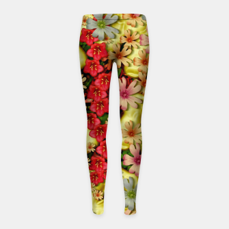 Thumbnail image of Big flowers of peace small of love  Girl's leggings, Live Heroes