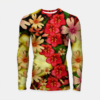 Miniatur Big flowers of peace small of love  Longsleeve rashguard , Live Heroes