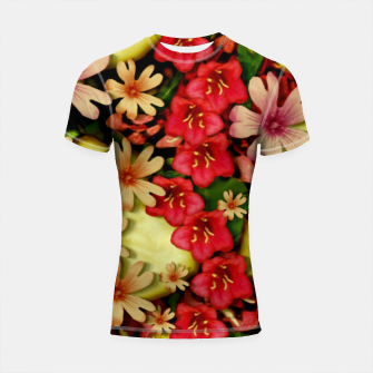 Miniatur Big flowers of peace small of love  Shortsleeve rashguard, Live Heroes