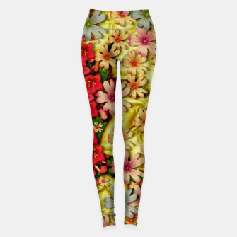 Thumbnail image of Big flowers of peace small of love  Leggings, Live Heroes