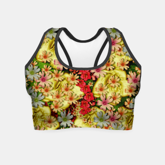Thumbnail image of Big flowers of peace small of love  Crop Top, Live Heroes