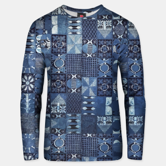 Thumbnail image of Blue Indigo African Moroccan Traditional Style Design. Unisex sweater, Live Heroes