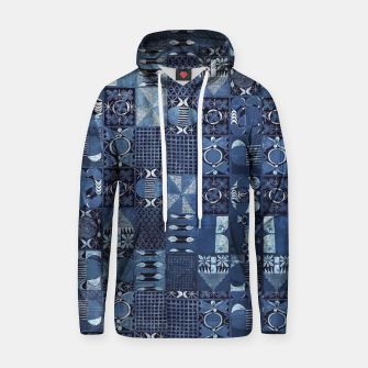 Thumbnail image of Blue Indigo African Moroccan Traditional Style Design. Hoodie, Live Heroes