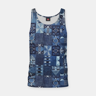 Thumbnail image of Blue Indigo African Moroccan Traditional Style Design. Tank Top, Live Heroes