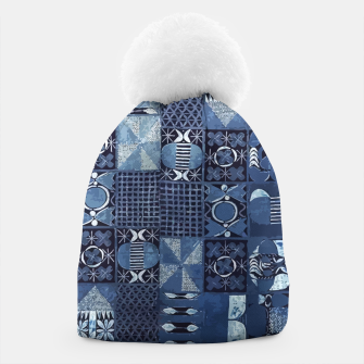 Thumbnail image of Blue Indigo African Moroccan Traditional Style Design. Beanie, Live Heroes