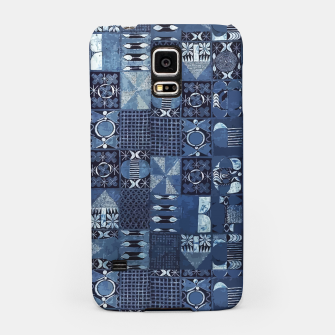 Thumbnail image of Blue Indigo African Moroccan Traditional Style Design. Samsung Case, Live Heroes