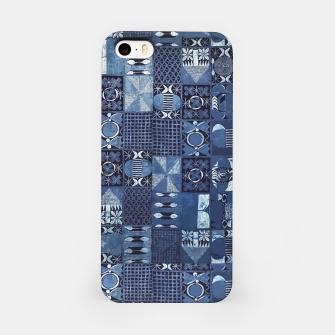 Miniatur Blue Indigo African Moroccan Traditional Style Design. iPhone Case, Live Heroes