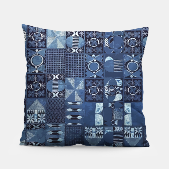 Thumbnail image of Blue Indigo African Moroccan Traditional Style Design. Pillow, Live Heroes