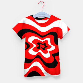 Imagen en miniatura de Abstract pattern - red, black and white. Kid's t-shirt, Live Heroes