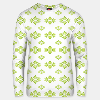 Bright Leaves Motif Print Pattern Design Unisex sweater obraz miniatury