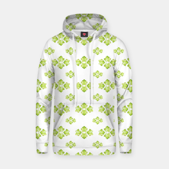 Bright Leaves Motif Print Pattern Design Hoodie obraz miniatury