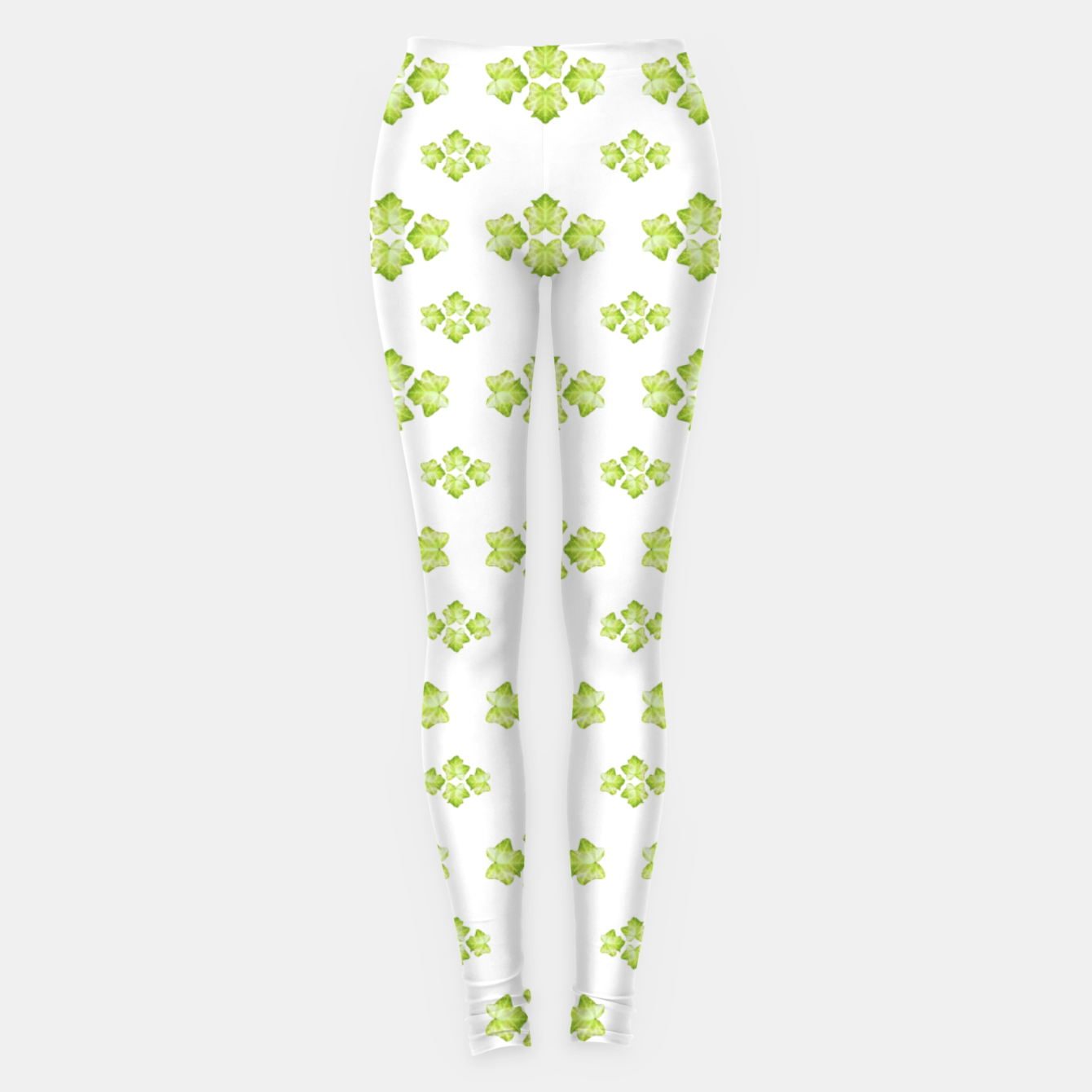 Zdjęcie Bright Leaves Motif Print Pattern Design Leggings - Live Heroes