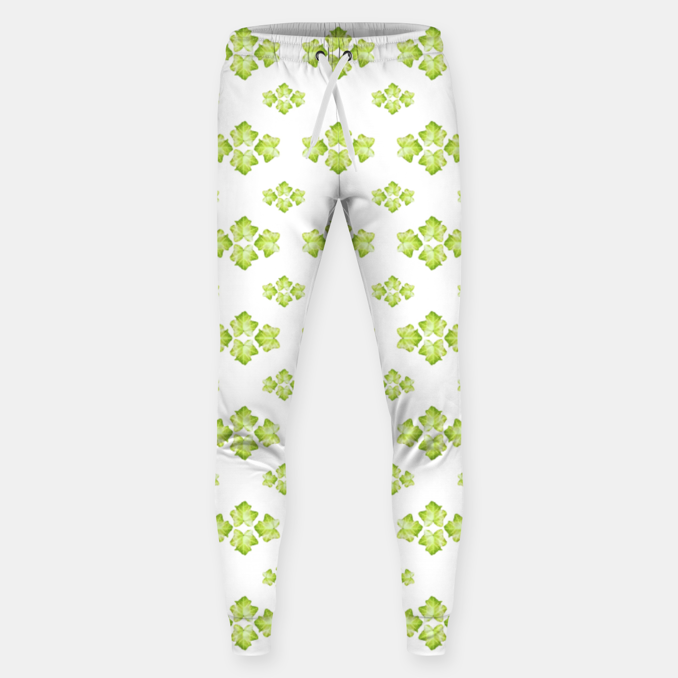 Zdjęcie Bright Leaves Motif Print Pattern Design Sweatpants - Live Heroes