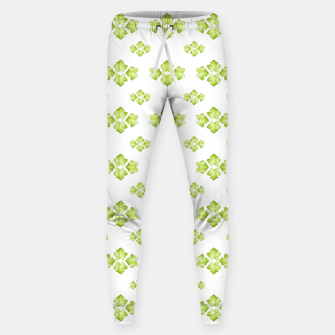 Bright Leaves Motif Print Pattern Design Sweatpants obraz miniatury